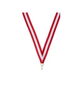 Medaille linten Rood Wit